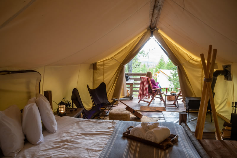 Keep a Glamping Tent Warm