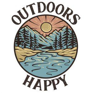 Outdoors Happy Logo