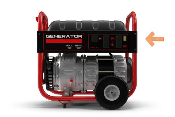 Portable Generator Control Panel