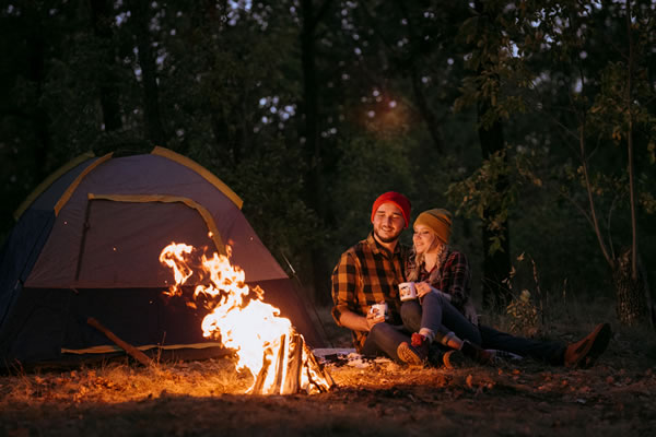 Stay warm while camping